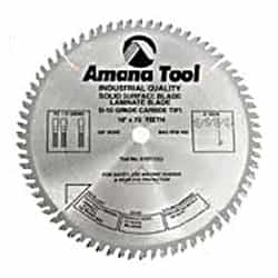 "Amana 614961 Solid Surface & Non-Melt Saws Blades - 14"" Diameter; 96 Tooth; 1"" Bore; TC Grind"