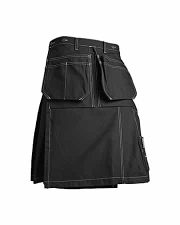 Blaklader 162713709900 Glasgow Kilt Color Black, Utility Pockets and Hammer Holder
