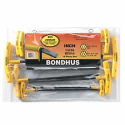 Bondhus 13138 Balldriver T-handle set BTX10 10 pc. set.