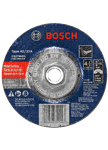 Bosch CG27M451 4-1/2 Inch 3/32 Inch 5/8-11 Inch Arbor Type 27 24 Grit Light Grinding/Metal Cutting Abrasive Wheel (Bulk 25 Pack)