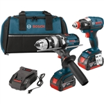 CLPK224-181 18V 2-Tool Kit with Brute Tough Hammer Drill Driver, Impact Driver & 2 Batteries by Bosch Tools