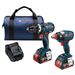18 V 2-Tool Combo Kit with EC Brushless 1/4 In. and 1/2 In. Socket-Ready Impact Driver and EC Brushless Compact Tough™ 1/2 In. Hammer Drill/Driver