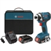 "Bosch IDS181-02 18V 1/4"" Hex Compact Tough Impact Driver w/ 2 HC SlimPack Battery"