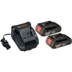 Bosch Tools SKC181-02 18V Starter Kit (2 SlimPack Batteries & Charger)