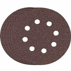 "Bosch SR5R320 5"" Hook & Loop Sanding Disc, 8-Hole, Red, 320 Grit"