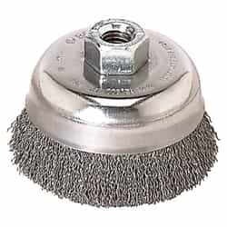 "Bosch WB504 3"" Cup Brush, Knotted, SS Wire Wheel"