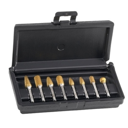 Champion Cutting Tools Carbide Bur Set 8 Piece Titanium Nitride Coated