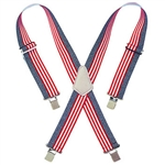 CLC Heavy-Duty USA Flag Elastic Suspenders