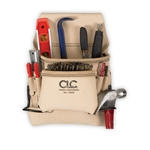 CLC 8 Pocket Top Grain Carpenter's Nail & Tool Bag