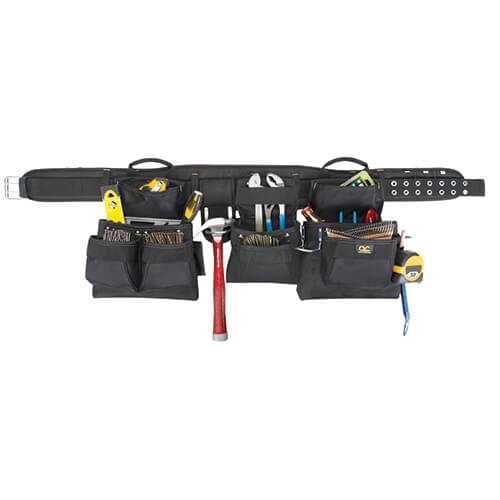 CLC 18 Pocket - 5 Pc. Pro Carpenter's Combo, Black (other colors available)
