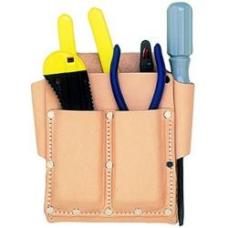 CLC 5 Pocket Top Grain Tool Pouch