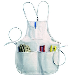 CLC 4 Pocket Loop Neck Bib Apron