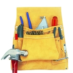 CLC 8 Pocket Suede Carpenter's Nail & Tool  Bag