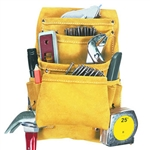 CLC 10 Pocket Suede Carpenter's Nail & Tool Bag