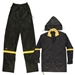 CLC Black 3 Piece Nylon Rain Suit - 3XL