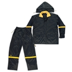 CLC Black 3 Piece Nylon Rain Suit - 4XL