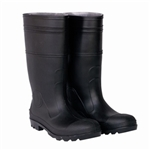 CLC Black PVC Rain Boot with Steel Toe - Size 8