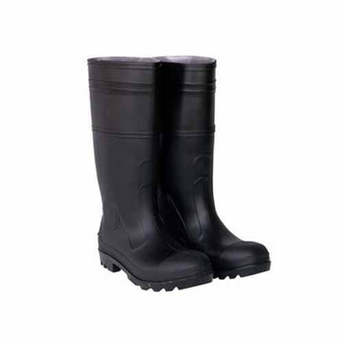 CLC Black PVC Rain Boot with Steel Toe - Size 10