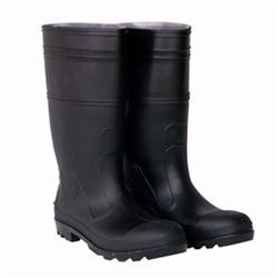 CLC Black PVC Rain Boot with Steel Toe - Size 14