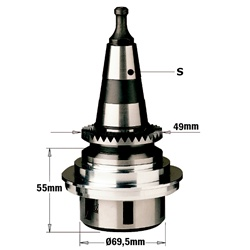 "CMT 183.250.01 Chuck with ""ER32"" Precision Collet, ISO30 Shank, Right-Hand rotation"
