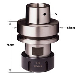 "CMT 183.300.02 Chuck with ""ER32"" Precision Collet, HSK-F63 Shank, Left-Hand Rotation"