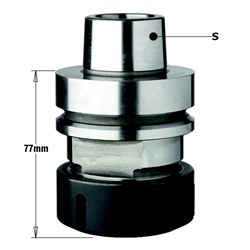 "CMT 183.310.02 Chuck with ""ER40"" Precision Collet, HSK-F63 Shank, Left-Hand Rotation"