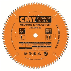 CMT 210.080.10 Industrial Fine Cut-Off Saw Blade, 10-Inch x 80 Teeth 40º ATB Grind with 5/8-Inch Bore, PTFE Coating