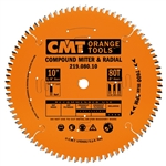 CMT 219.060.08 Industrial Sliding Compound Miter & Radial Saw Blade, 8-1/2-Inch x 60 Teeth 4/30º ATB+1TCG Grind with 5/8-Inch Bore, PTFE Coating