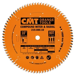 CMT 219.100.14 Industrial Sliding Compound Miter & Radial Saw Blade, 14-Inch x 100 Teeth 4/30º ATB+1TCG Grind with 1-Inch Bore, PTFE Coating