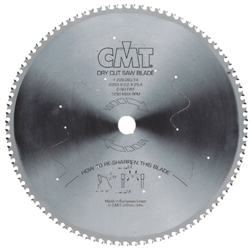 CMT 226.060.12 Industrial Dry Cut Steel Saw Blade, 12-Inch x 60 Teeth 8º FWF Grind with 1-Inch Bore