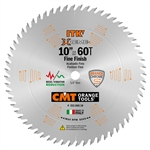 CMT 252.060.10 ITK Industrial Fine Cut-Off Saw Blade, 10-Inch x 60 Teeth 1FTG+2ATB Grind with 5/8-Inch Bore