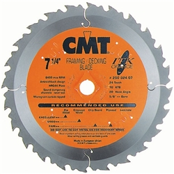 CMT 271.136.18D ITK Industrial Framing/Decking Saw Blade, 5-3/8-Inch x 18 Teeth 1FTG+2ATB Grind with 10mm Bore