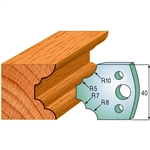 CMT 690.022 Pair of Profiled Knives for Shaper Cutters, 1-37/64-Inch Cutting Length, 5/32-Inch Thickness