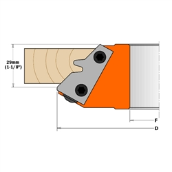 CMT 695.011.01 Pair of Profiled Knives for 45¡ Lock Miter Cutter Head, 1-1/8-Inch Cutting Length