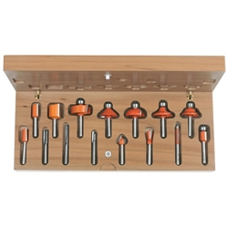 Cmt 800.001.00 15 Piece Router Bit Set