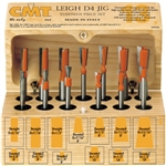 Cmt 800.519.11 13 Piece Dovetail & Straight Bit Set