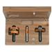 CMT 800.526.11 3-Piece Tongue & Groove Cabinetmaking Set in Hardwood Case, 1/2-Inch Shank
