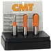 Cmt 814.001.11 3-Pcs Round Nose Set