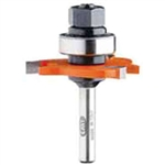 CMT 822.332.11B 3-Wing Slot Cutter with Bearing and Arbor, 1/8-Inch Cutting Length, 1/2-Inch Shank