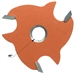 CMT 823.364.11 3-Wing Slot Cutter with 45º Bore, 1/4-Inch Cutting Length, 5/16-Inch Bore