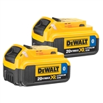 Dewalt 10.75 20V MAX 4.0 AH Li-Ion Batteries with Bluetooth Technology  (2 - Pack) - CORDLESS BATTERIES-DW (20V)