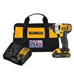 DeWalt 20V Max 1.5 Ah Cordless Lithium-Ion 1/4 in. Impact kit