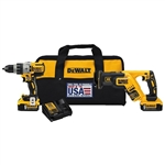 DEWALT DCK294P2 20-Volt MAX XR Lithium-Ion Cordless Brushless Premium Drill/Reciprocating Saw Combo Kit (2-Tool) with (2) Batteries 5Ah