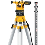 Dewalt DW092PK - Dewalt 20X Transit Level Package - Includes Tripod, Grade Rod, Plumb Bob, Kit Box