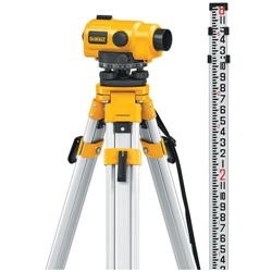 Dewalt DW096PK - Dewalt 20X Auto Level Package - Includes Tripod, Grade Rod, Plumb Bob, Kit Box
