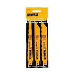 DEWALT DW4853 3 Piece Woodcutting Reciprocating Saw Blade Set