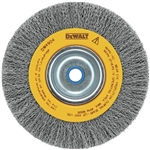 "Dewalt Dw4904 6"" Crimped Bench Wire Wheel, 5/8""-1/2"" Arbor, Medium Face .014"""