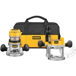 DW618PKB 2-1/4 HP (max. motor HP) EVS Fixed Base / Plunge Router Combo Kit by DeWalt