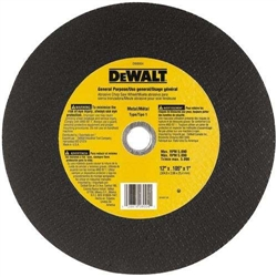 "Dewalt Dw8001 14"" X 7/64"" X 1"" Chop Saw Wheel-Metal (Bulk) (10)"