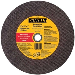 "DeWalt DW8030 14""x5/32""x1"" Ductile Pipe Portable Saw Cut-Off Wheel (10)"